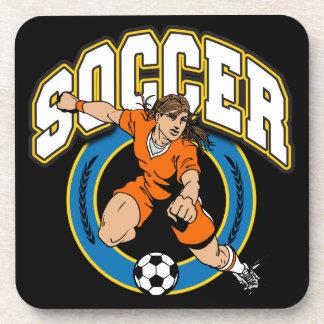 Logotipo del fútbol de las mujeres posavasos