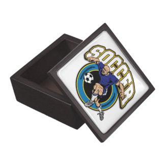 Logotipo del fútbol de los hombres caja de regalo de calidad