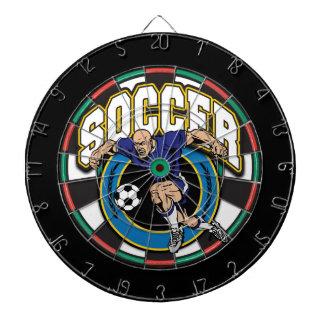 Logotipo del fútbol de los hombres tablero dardos
