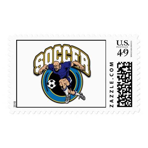 Logotipo del fútbol de los hombres sellos
