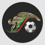 Logotipo del futbol del fútbol del emblema de la pegatina redonda