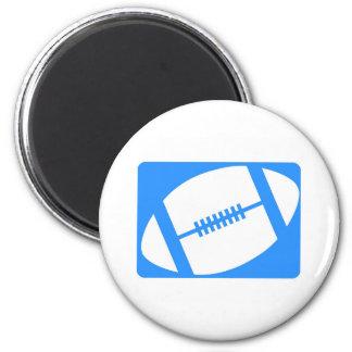 Logotipo del fútbol imán redondo 5 cm