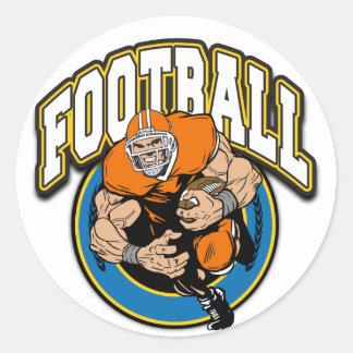 Logotipo del fútbol pegatina redonda