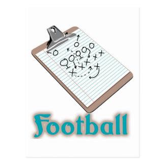 Logotipo del fútbol tarjeta postal