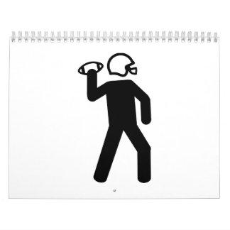 Logotipo del futbolista calendario de pared
