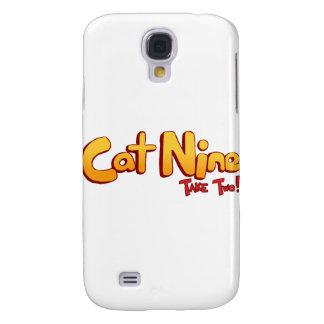 Logotipo del gato nueve funda para galaxy s4
