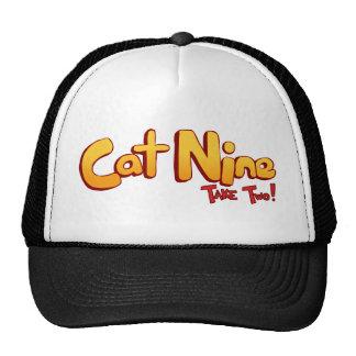 Logotipo del gato nueve gorros bordados
