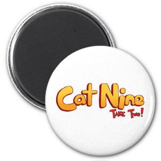 Logotipo del gato nueve imanes para frigoríficos