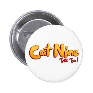 Logotipo del gato nueve pin
