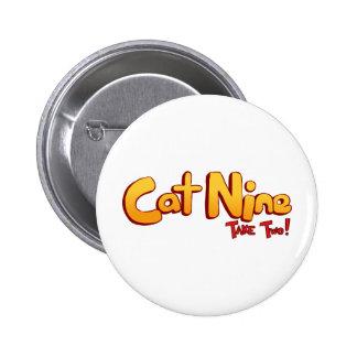 Logotipo del gato nueve pins