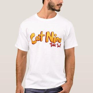 Logotipo del gato nueve playera