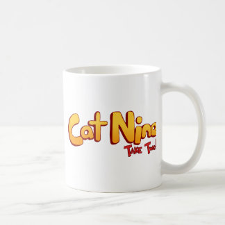 Logotipo del gato nueve tazas de café