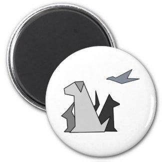 Logotipo del gato y del perro de APG Imán Para Frigorifico