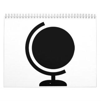 Logotipo del globo calendarios de pared