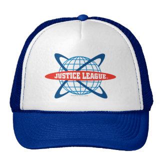 Logotipo del globo de la liga de justicia gorro