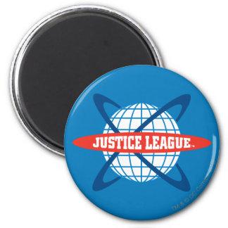 Logotipo del globo de la liga de justicia imanes