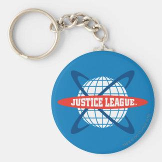 Logotipo del globo de la liga de justicia llavero personalizado