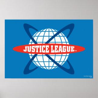 Logotipo del globo de la liga de justicia impresiones