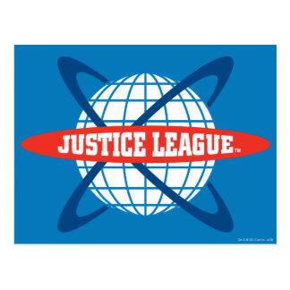 Logotipo del globo de la liga de justicia tarjetas postales