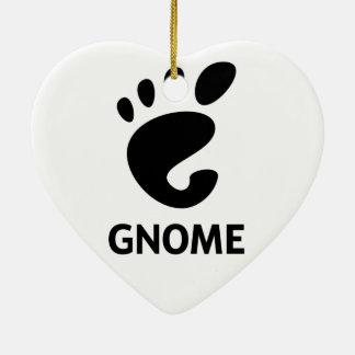 Logotipo del GNOMO Adorno Navideño De Cerámica En Forma De Corazón