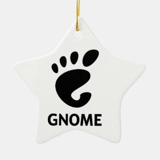 Logotipo del GNOMO Adorno Navideño De Cerámica En Forma De Estrella
