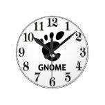 Logotipo del GNOMO Reloj De Pared