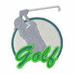 Logotipo del golf polo bordado