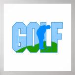 Logotipo del golf posters