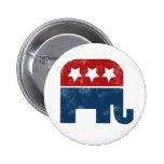 Logotipo del GOP del vintage Pins