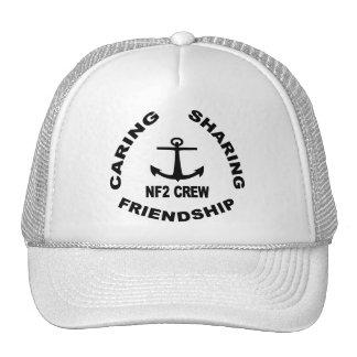 Logotipo del gorra de NF2Crew en negro
