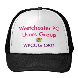 logotipo del gorra, grupo de usuarios de PC de Wes Gorras
