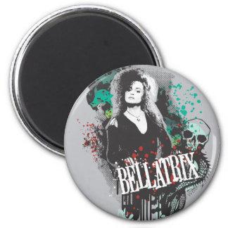 Logotipo del gráfico de Bellatrix Lestrange Imán Redondo 5 Cm
