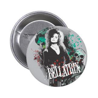 Logotipo del gráfico de Bellatrix Lestrange Pin Redondo De 2 Pulgadas