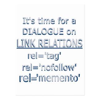 Logotipo del gris de las relaciones del vínculo tarjetas postales