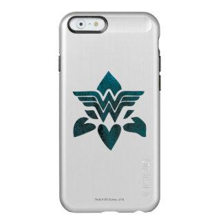 Logotipo del Grunge de la Mujer Maravilla Funda Para iPhone 6 Plus Incipio Feather Shine