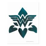 Logotipo del Grunge de la Mujer Maravilla Postales