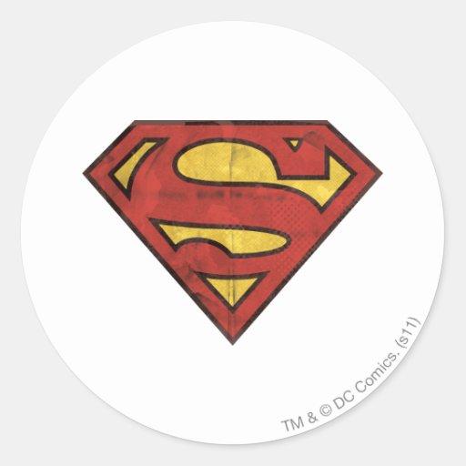 Logotipo del Grunge del S-Escudo el | del Pegatina Redonda