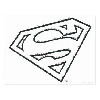Logotipo del Grunge del superhombre Postales