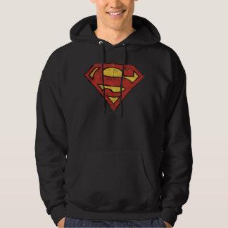 Logotipo del Grunge del superhombre Sudadera Con Capucha