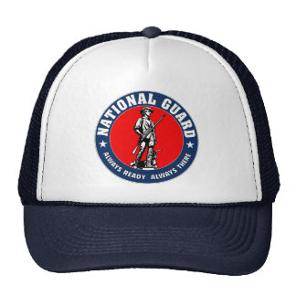 Logotipo del Guardia Nacional del ejército Gorros