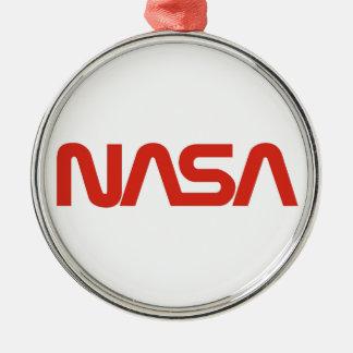 Logotipo del gusano de la NASA Adorno Navideño Redondo De Metal