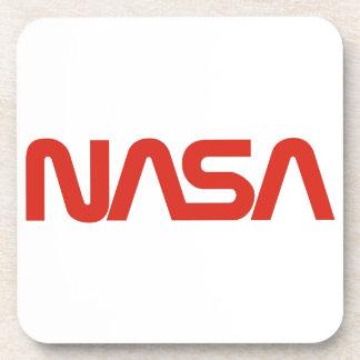 Logotipo del gusano de la NASA Posavasos De Bebidas