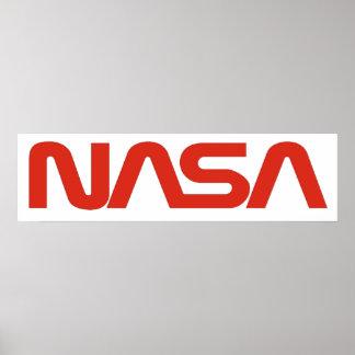 Logotipo del gusano de la NASA (serpiente) Póster