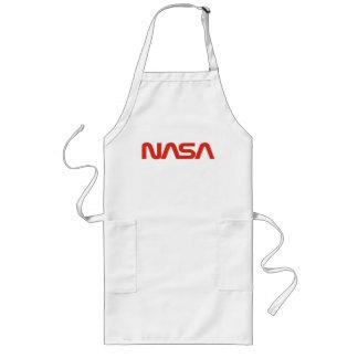 Logotipo del gusano rojo de la NASA Delantal Largo