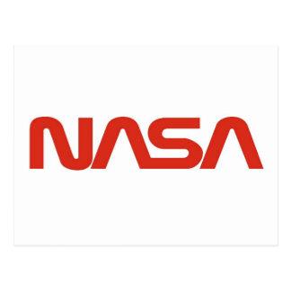 Logotipo del gusano rojo de la NASA Tarjeta Postal