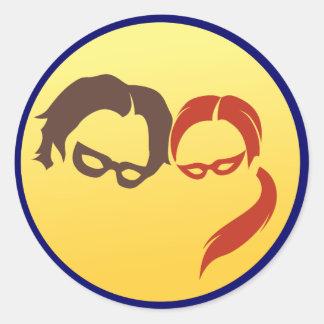 Logotipo del héroe de MidnightSQL - pegatinas Pegatina Redonda