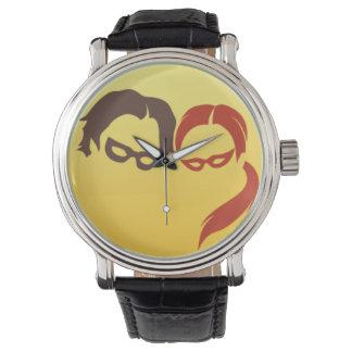 Logotipo del héroe de MidnightSQL - reloj