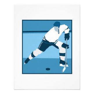 Logotipo del hockey de los azules claros comunicados personales