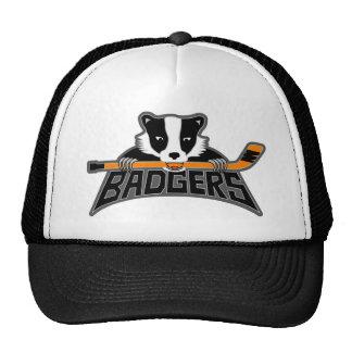 Logotipo del hockey de los tejones gorras