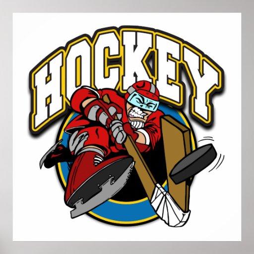 Logotipo del hockey impresiones